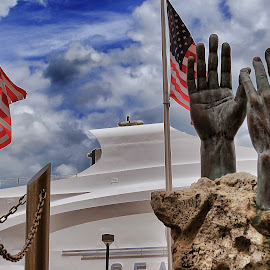 Hands raised in hope by Darrell Champlin - Buildings & Architecture Statues & Monuments