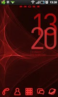 Screenshot of Red Light GO Launcher Theme