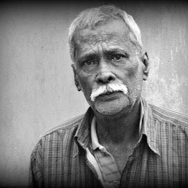 Ramsewak by Prasanta Das - People Portraits of Men ( black and white, close up, portriat )