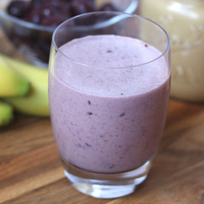Cherry Peanut Butter Banana Smoothie