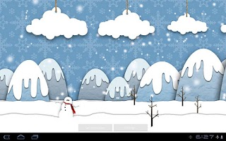 Screenshot of Samsung Parallax Winter LWP