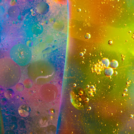 Oil and Water by Tammy Drombolis - Abstract Water Drops & Splashes