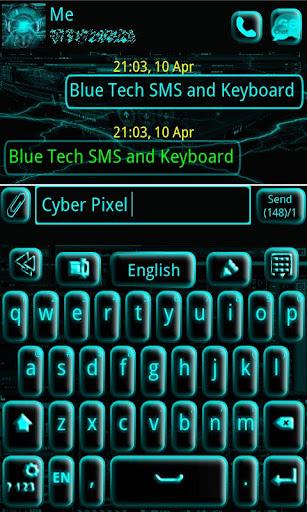 GO Keyboard Blue Tech
