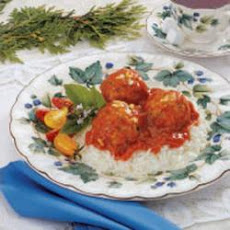 Turkey Meatballs in Garlic Sauce