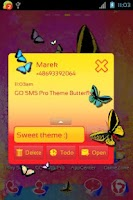 Screenshot of GO SMS Pro Theme Butterfly