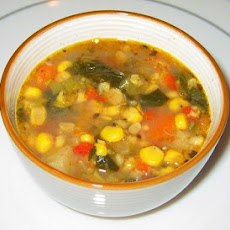 Spicy Corn Chowder with Corn Husk Stock