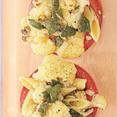 Baked Cauliflower-Stuffed Tomato