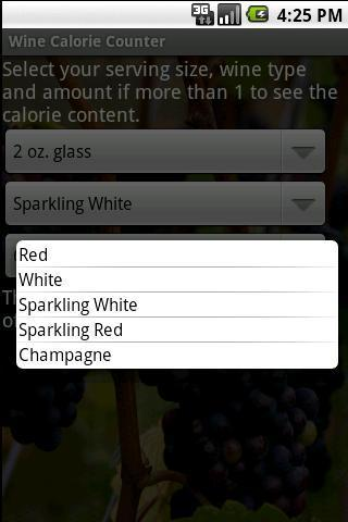 Wine Calorie Counter