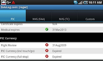 Screenshot of ZuluLog Pilot Logbook