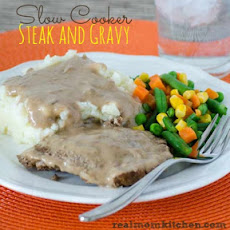 Slow Cooker Steak and Gravy