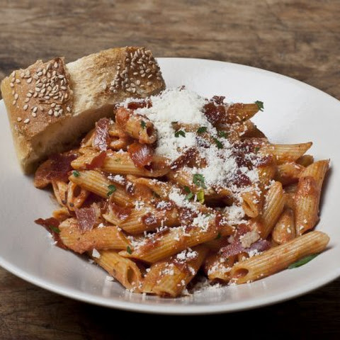 Penne a la Vodka with Crispy Prosciutto