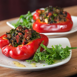 Lentil-Stuffed Red Bell Peppers