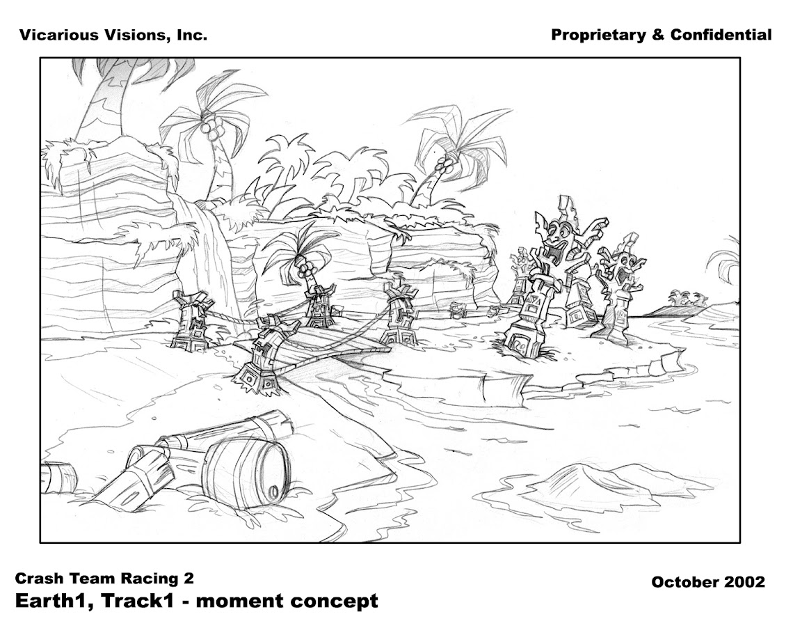 Crash Nitro Kart Concept Art