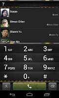 Screenshot of exDialer Steel Theme