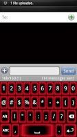 Screenshot of Red Glow Keyboard Skin