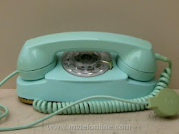 Desk Phones - Western Electric 702B Terquoise Princess 1