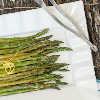 Roasted Asparagus with Balsamic Mustard Vinaigrette #SundaySupper