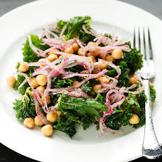 Vegan: Marinated Kale and Chickpea Salad With Sumac Onions