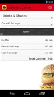 Screenshot of Fast Food Calorie Counter