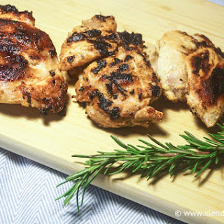 Grilled Lemon Herb Chicken Thighs