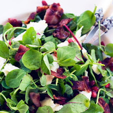 Jewelled Salad With Pomegranate, Crispy Bacon And Mozzarella