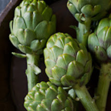 Grilled Artichokes and Stems with Garlic Tarragon Butter