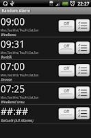 Screenshot of Random Alarm