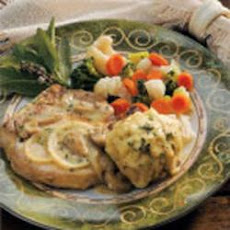Herb Dumplings with Pork Chops