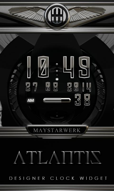 Digi Clock Widget Atlantis Screenshot 0