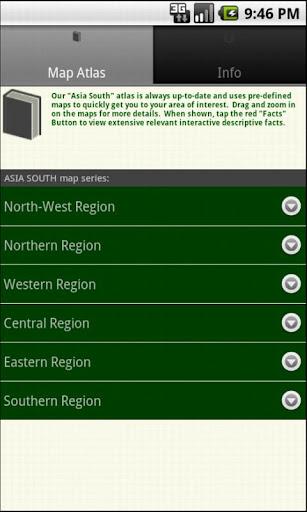 mapQWIK Asia South Atlas