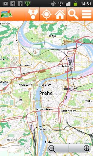 Prague Offline mappa Map