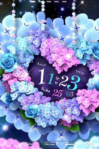 Hydrangea-紫陽花 ライブ壁紙 トライアル