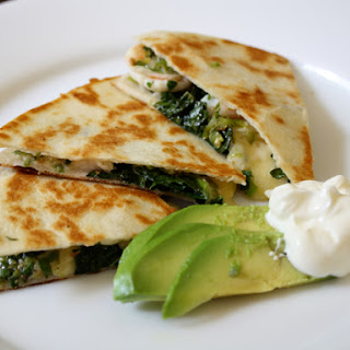 Shrimp Quesadilla with Kale