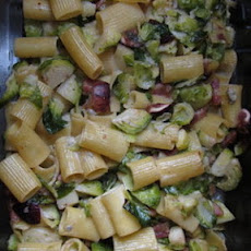 Baked Rigatoni with Brussels Sprouts, Figs, and Blue Cheese