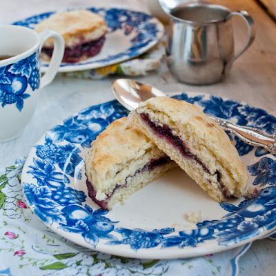 Blackberry Jam Cream Tea Scones