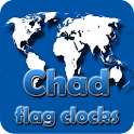 Chad flag clocks icon