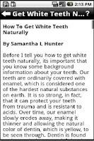 Screenshot of Teeth Whitening