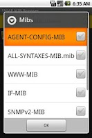 Screenshot of SNMP MIB Browser