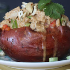 Thai Chicken Stuffed Sweet Potatoes