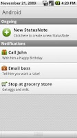 Screenshot of StatusNotes (Status Notes)