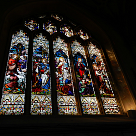 Stained Glass at Bath Abbey by Deborah Russenberger - Buildings & Architecture Places of Worship ( window, stained glass )
