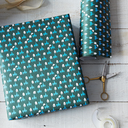 Cozy Cottage Gift Wrap, 12 Sheets