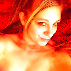 Fire Woman by Dayman Rayne - Nudes & Boudoir Artistic Nude ( naked, fire )