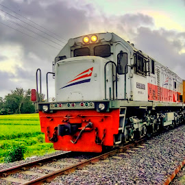 Indonesian Train (5) by Randi Pratama M - Transportation Trains ( train,  )