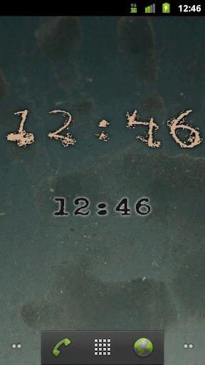Horror Digital Clock Widget