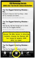 Screenshot of Marketing Secrets