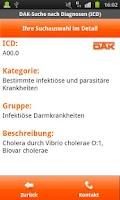 Screenshot of ICD-Diagnosesuche DAK