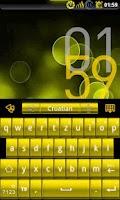 Screenshot of GOKeyboard Theme - LiquidGold