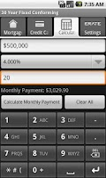Screenshot of Mortgage Rates, Mortgage Calc