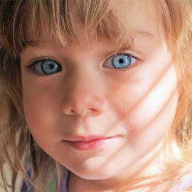 by Connie Mastenbrook - Babies & Children Child Portraits ( child, girl, blue eyes, portrait, close,  )